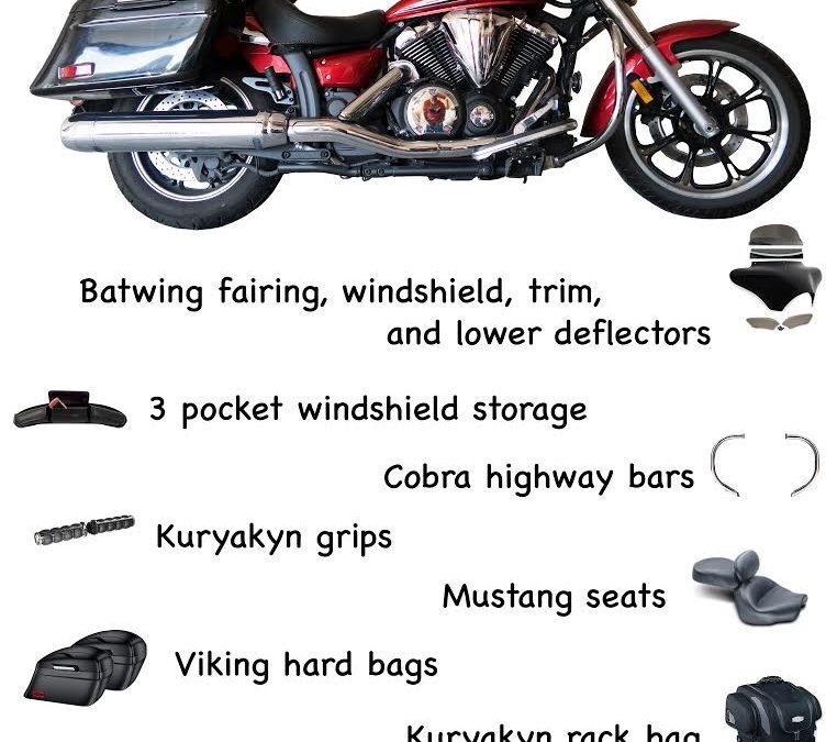 2014 Yamaha Vstar 950 motorcycle
