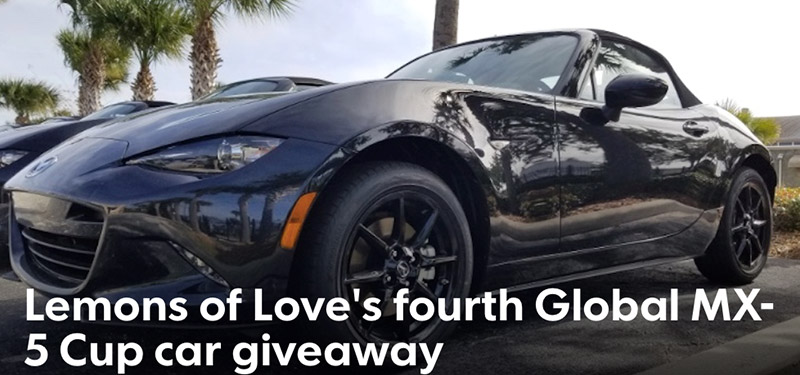 Win a 2020 Global Mazda MX5 Cup Race Car!