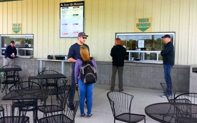 Outdoor Dining at the Clubhouse and Café Begin Again on Friday